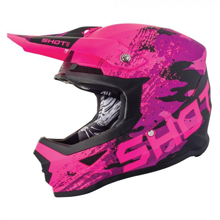 Shot Youth Furious MX Helmet Counter Pink Gloss